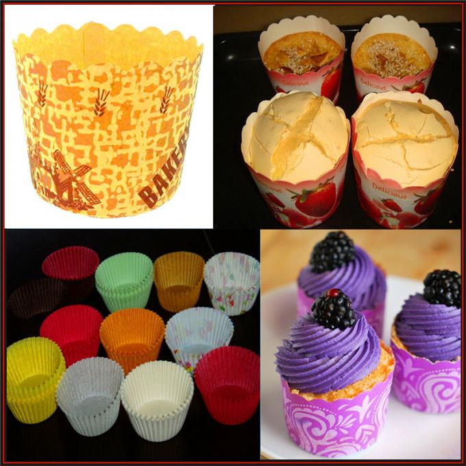 50 HZ Paper Cake Cup Machine , Cake Tray Forming Machine Efficient Green Laminated