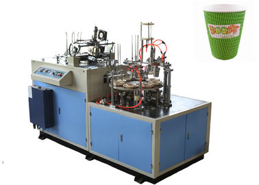 Cina Hollow / Corrugated Double Wall Paper Cup Sleeve Forming Machine 24 Hours Stable Running pemasok