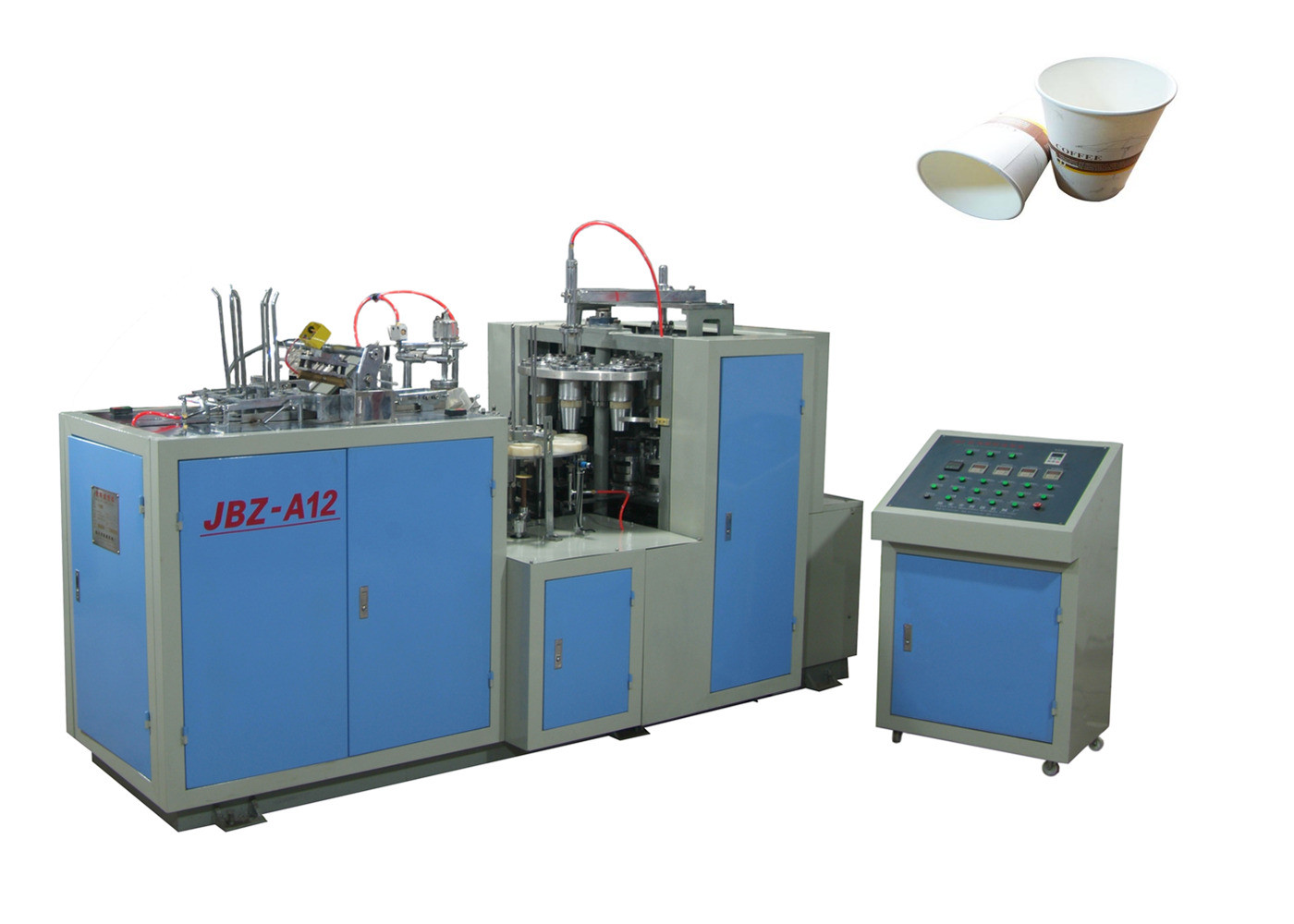 Takeaway Automatic Paper Cup Machine , Commercial Machine For Paper Cup Production