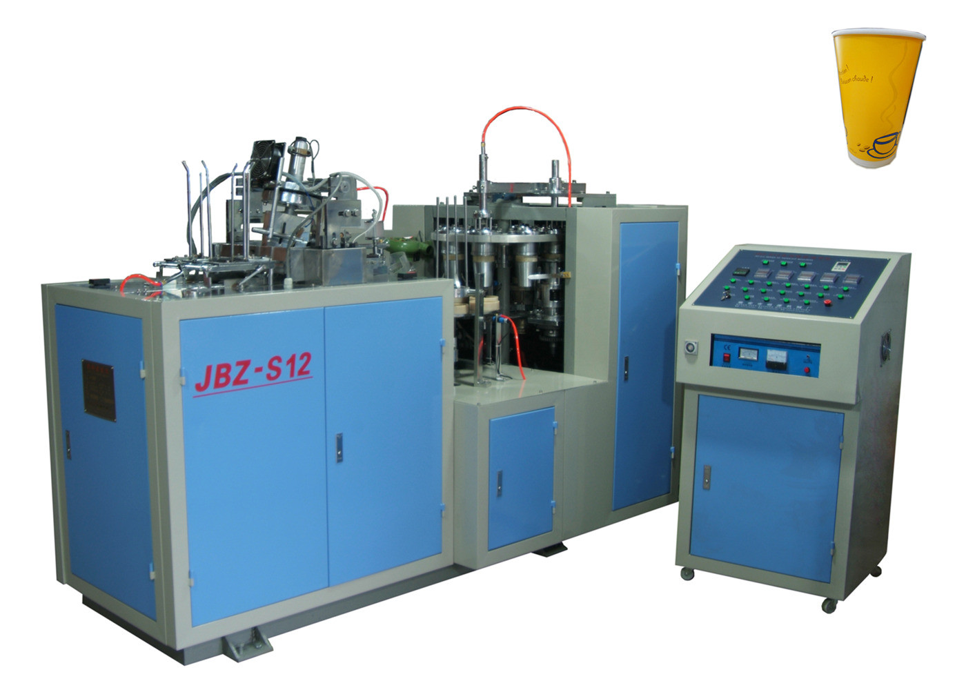 Double PE Coated Paper Automatic Paper Cup Machine Self Lubrication System