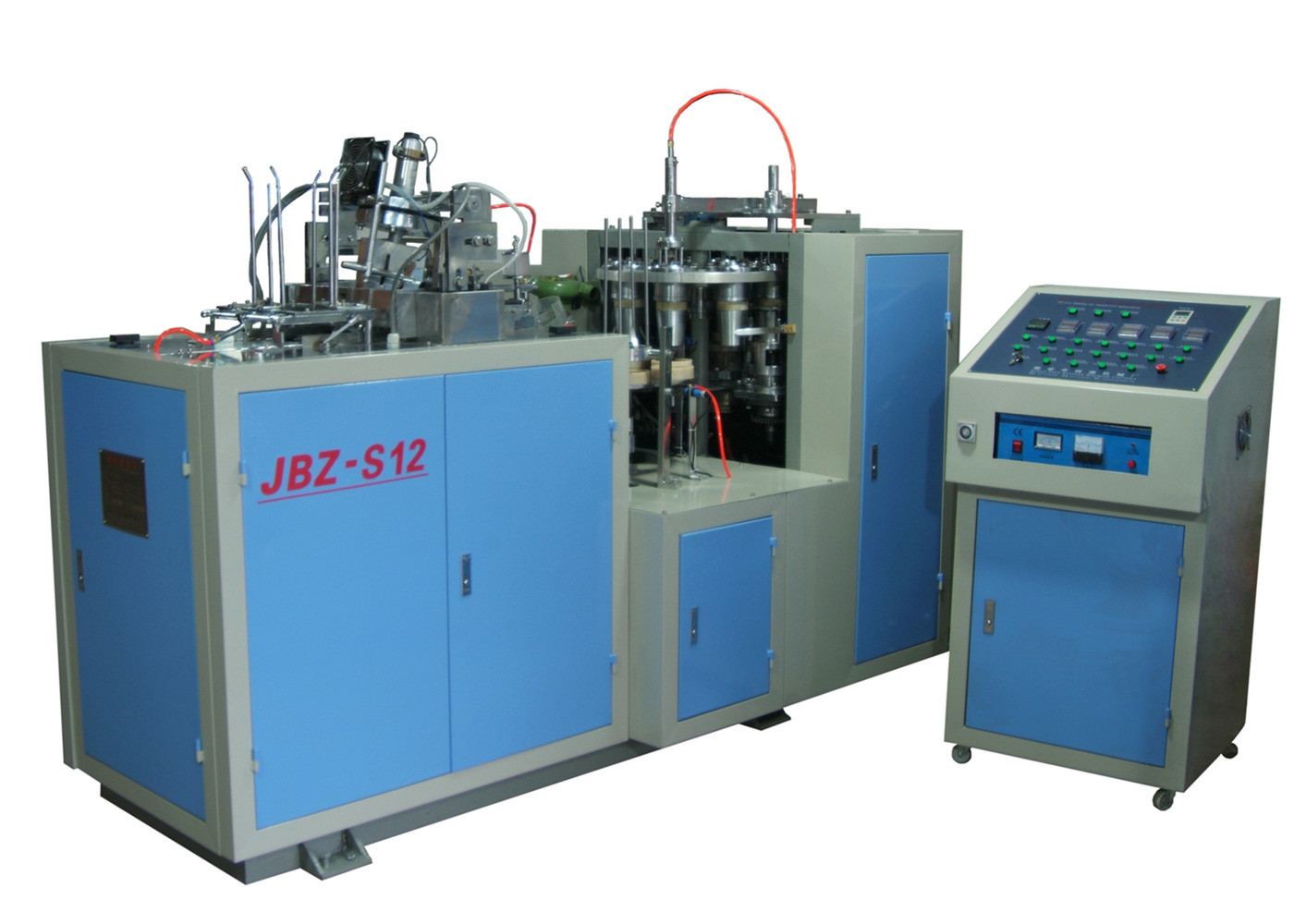 Full Automatic Paper Cup Making Plant Ultrasonic Heater Sealing CE SGS Certification