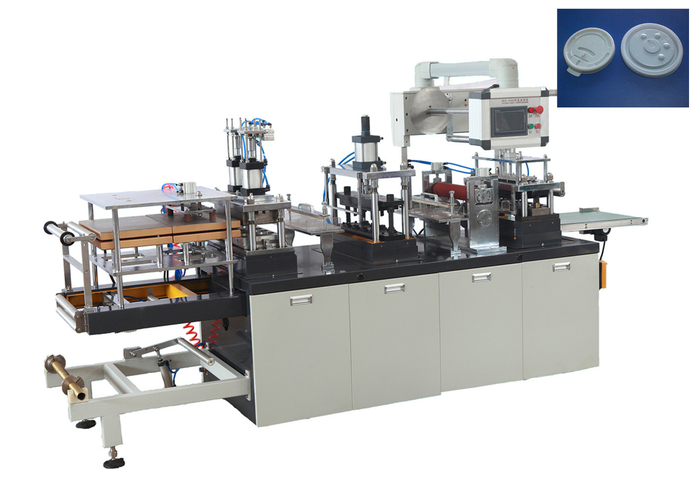 Intelligent Plastic Lid Forming Machine High Production 15 - 45 Punch / Min