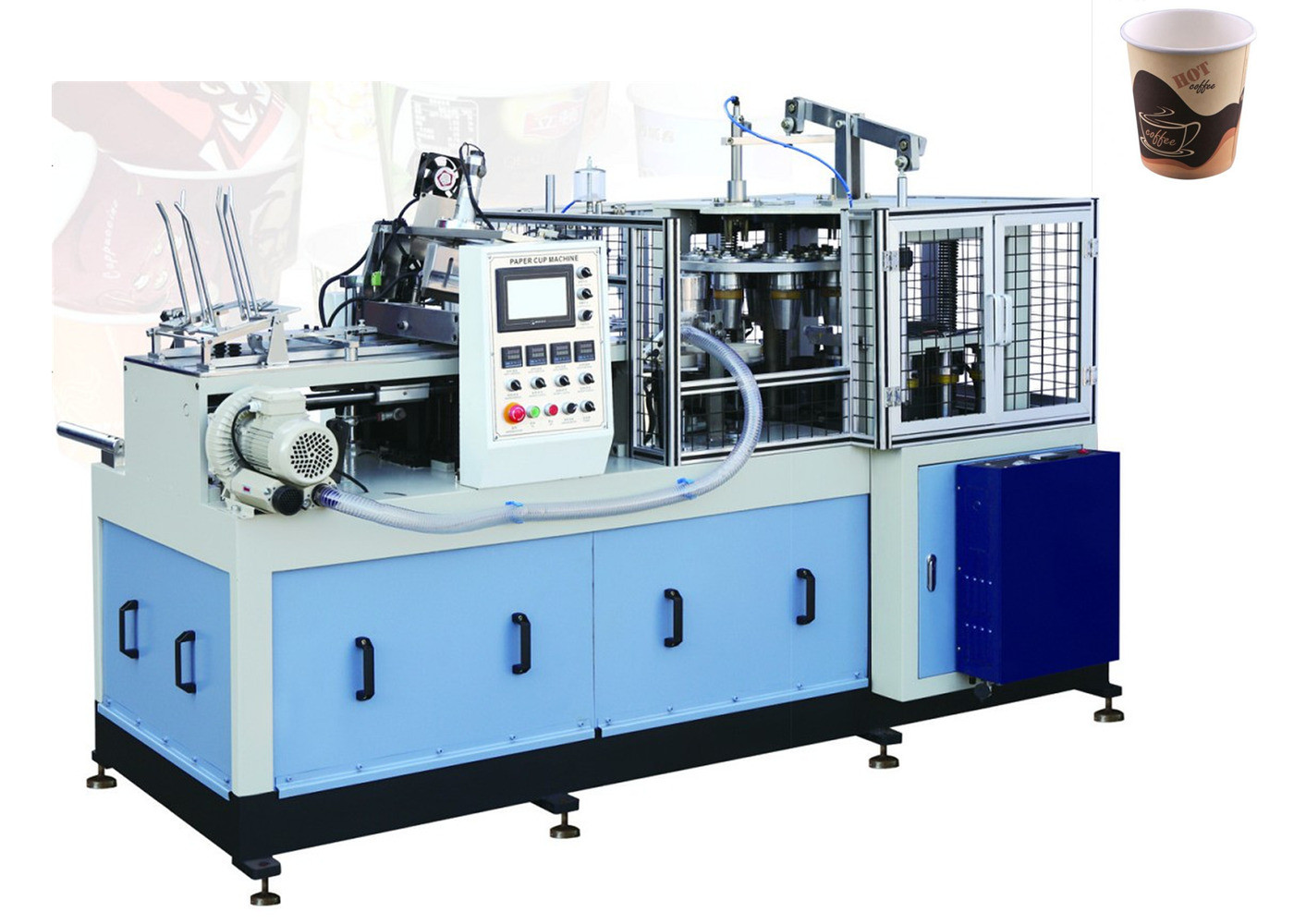 High Speed Safty Paper Tea Cup Making Machine With Self Lubrication System