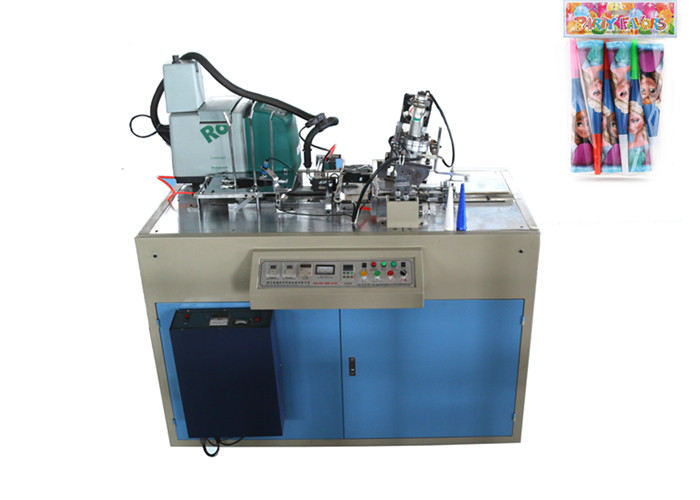 Happy New Year Paper Cup Forming Equipment , Paper Horn Making Machine