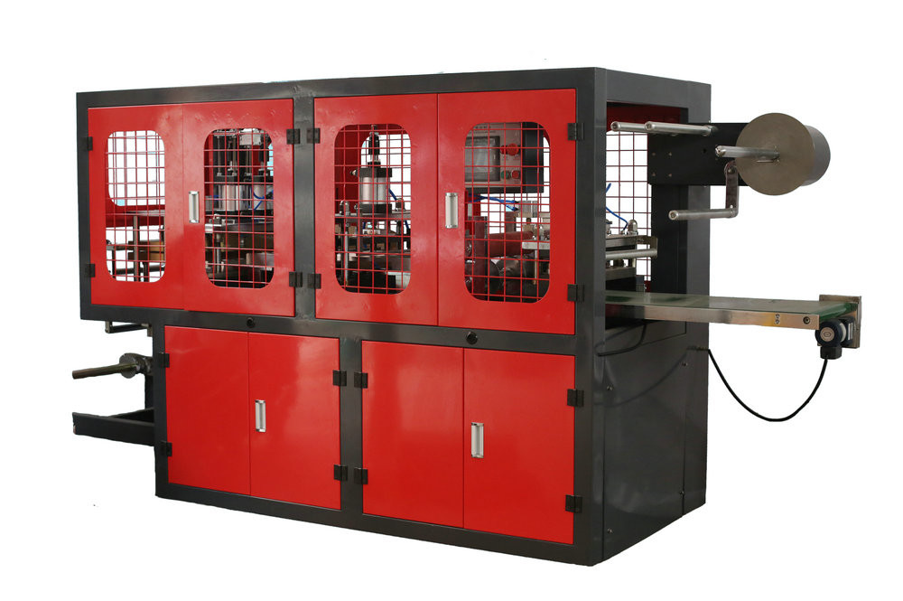 Automatic Plastic Cup Cover Machine , High Speed Plastic Cap Making Machine